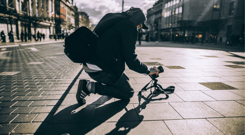 街を撮るカメラマン